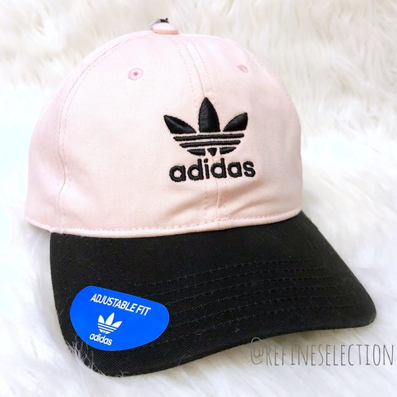 2e855e158b3 adidas Trefoil Pink And White Strapback Dad Hat